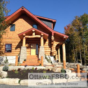 New Log Home for Sale